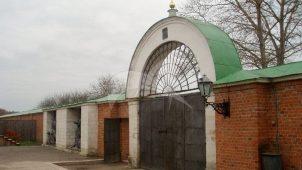 Ворота западные, 1837-1839 гг., Спасо-Бородинский монастырь, XIX в.