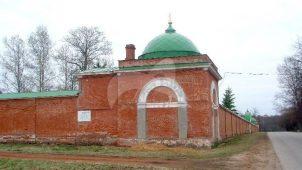 Башни и ограды северо-западные, 1837-1839 гг., Спасо-Бородинский монастырь, XIX в.