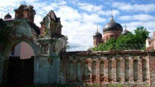 Ворота, ограда и башни, вторая половина XIX в., Спасо-Преображенский Гуслицкий монастырь