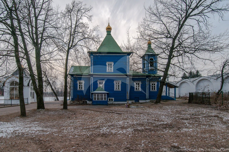 Церковь свв. апп. Петра и Павла (деревянная), 1857 г., Николо-Угрешский монастырь, ХVI-ХVII вв.