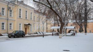 Дворовый корпус служб и конюшни усадьбы А.К. Разумовского