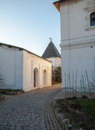 Башня пятигранная на западной стене, Ансамбль Новоспасского монастыря