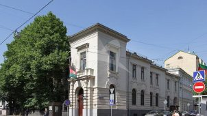 Ограда, 1903-1904 гг., городская усадьба М.Г. Понизовского, арх. Л.Н. Кекушев