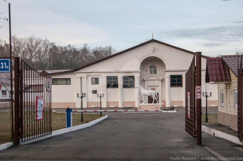 Вход, 1950-1960-ее гг., арх. Б.И. Аверинцев, комплекс конно-спортивной школы в Измайлово