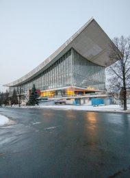 Здание павильона СССР на «ЭКСПО-67» в Монреале, 1967 г., архитекторы Посохин М.В., Мндоянц А.А., Тхор Б.И., 1976 г.