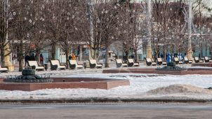 Фонтаны центральной аллеи (14 фонтанов), 1954 г., арх. Куранов В.М., Щуко Ю.В., комплекс Всесоюзной сельскохозяйственной выставки