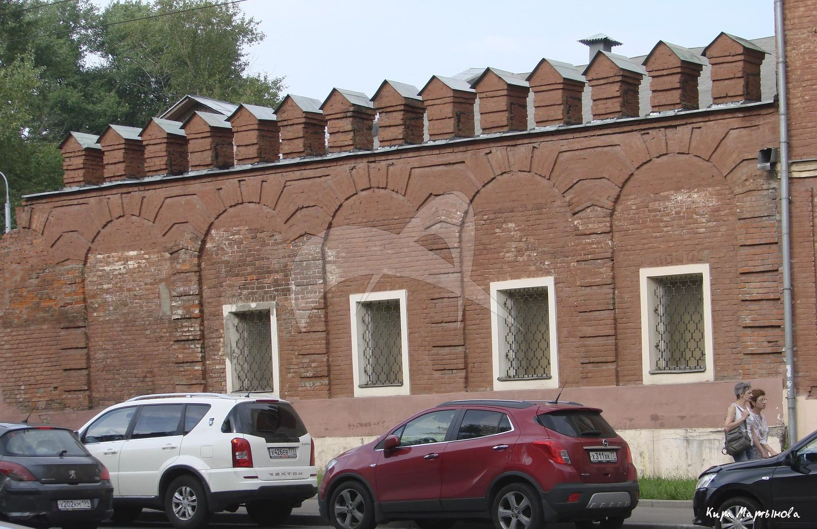 Стена западная (фрагмент), ансамбль Никольского Единоверческого монастыря, XVIII-XIX вв.