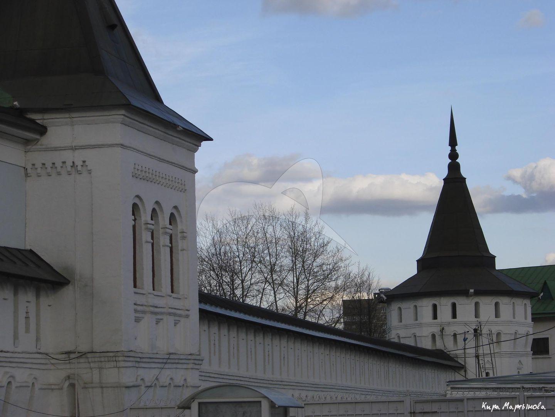 Башня квадратная на южной стене, Даниловский монастырь. Крепостные башни, XVII в.
