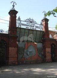Старые контрольные ворота, 1910 г., арх .А.П. Евланова, Трехгорный пивоваренный завод конец XIX — начало XX вв.