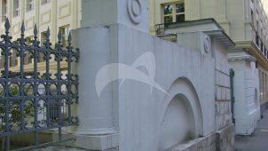 Ограда с воротами по Милютинскому переулку, 2-я четверть XIX в., конец XIX в., усадьба, XVIII-XIX вв.