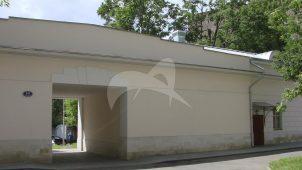 Надворные постройки: два боковых флигеля и центральный флигель с проездом (быв. Каретный сарай), Опекунский Совет