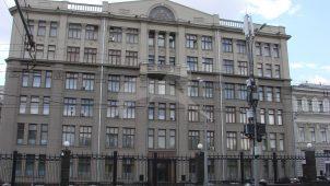 Доходный дом В.И. Титова, 1912-1915 гг., арх. В.В. Шервуд, 1930-1940-е гг. Здесь в 1920-1990-х гг. размещался Центральный Комитет Коммунистической партии Советского Союза (до 1952 года — ЦК ВКП(б))