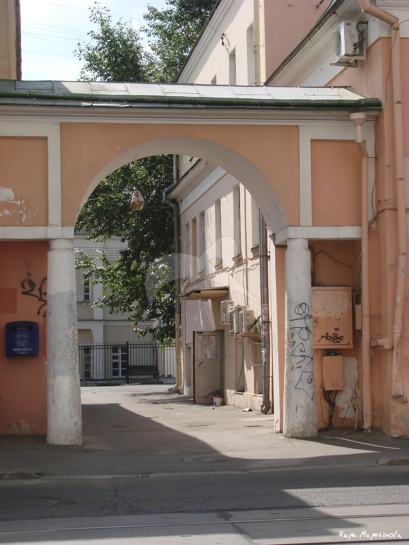 Ворота, дома с двумя флигелями и воротами, конец XVIII в., по проекту М.Ф. Казакова