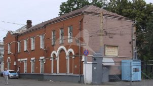 Здание амбулатории, мастерские и гараж, 1910 г., надстройка 1926 г., ансамбль зданий Рязанского трамвайного парка