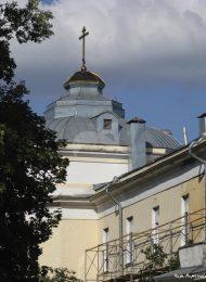 Корпус на набережной реки Яузы, 1723 г. (с храмом Воскресения Христова). Первый военный госпиталь.