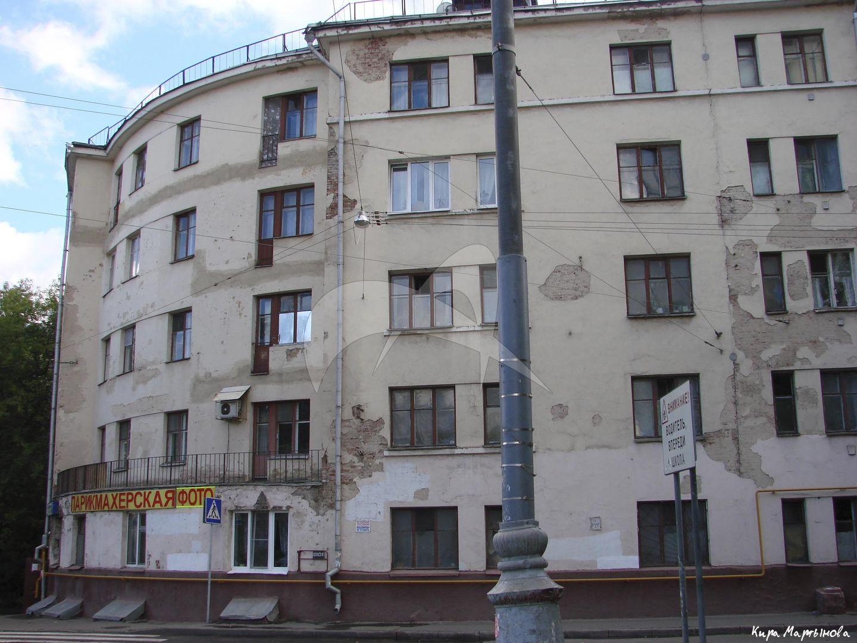 Жилой дом, 1928-1929 гг., арх. И.С. Николаев, М.М. Русанова, корпус 1, жилой поселок «Преображенский»