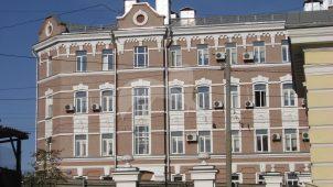 Дом доходный, конец XIX в. Здесь в 1903-1904 гг. находилась созданная Бауманом Н.Э. подпольная типография