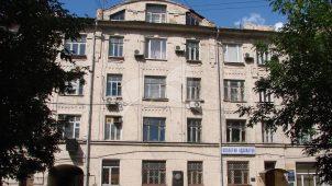 Здание, где находится квартира, в которой в 1921-1945 гг. жил писатель В.В. Вересаев