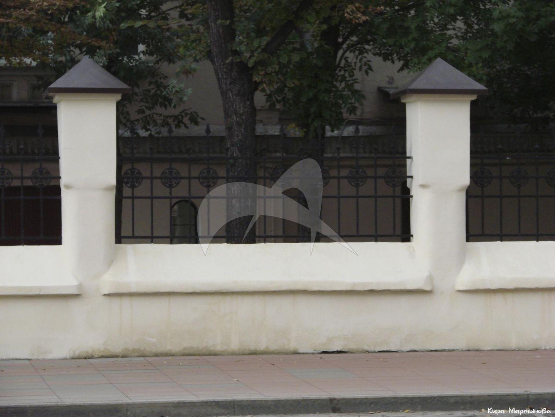 Ограда, конец XIX в., Александровская больница Московского купеческого общества