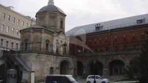 Церковь Пахомия, 1753-1755 гг., ансамбль Высоко-Петровского монастыря