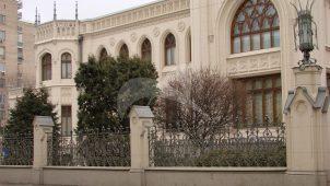 Ограда с решеткой, особняк Морозова, конец XIX в., арх. Ф.О. Шехтель