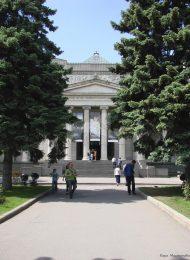 Здание Музея изящных искусств, в котором 1 мая 1920 года Ленин Владимир Ильич выступал на торжественном собрании, посвященном открытию выставки проектов памятников «Освобожденному труду»