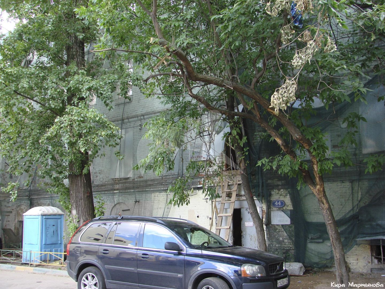 Доходный дом, 1906 г., арх. П.М. Самарин, в основе флигель конец XVIII-XIX вв., ансамбль городской усадьбы