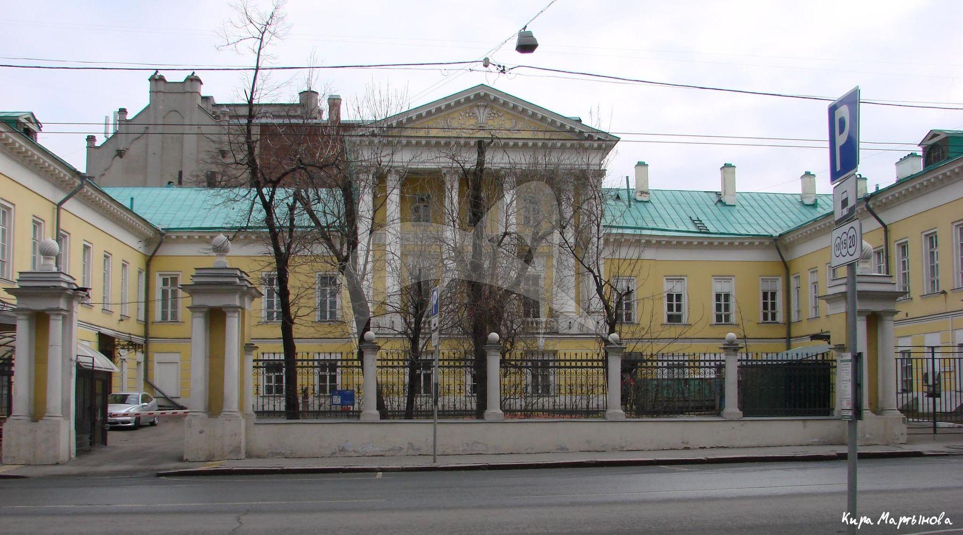 Главный дом, городская усадьба И.И. Барышникова, 1793-1796 гг., 1797-1802 гг., арх. М.Ф. Казаков