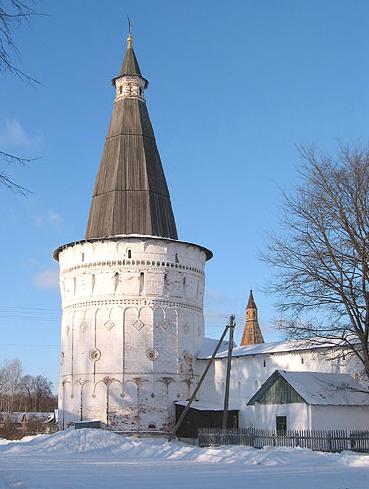 Башня Часовая, ансамбль Иосифо-Волоцкого монастыря, ХVI-ХVII вв.