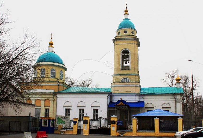 Церковь Всех скорбящих радости на Калитниковском кладбище, 1780 г., XIX в., арх. Козловский Н.И.