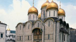 Успенский собор, 1475-1479 гг., арх. А. Фиоравенте, построен по образцу древнерусских соборов XII в. Фрески XV-XVII вв. Ансамбль Московского Кремля