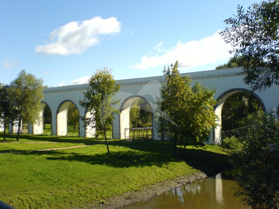 Акведук через реку Яузу (Ростокинский акведук), 1779-1785 гг., инж-ры Ф.Б. Бауер и И.К. Герард