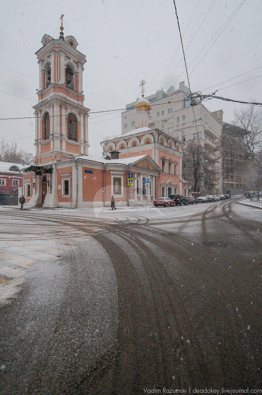 Церковь Воскресения на Успенском вражке, 1629 г., колокольня и трапезная, 1820 г.