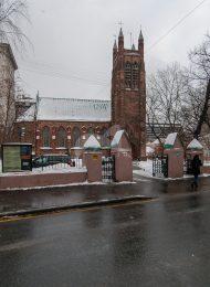 Ограда с воротами, 1894 г., арх. Б.В. Фрейденберг, ансамбль Англиканской церкви