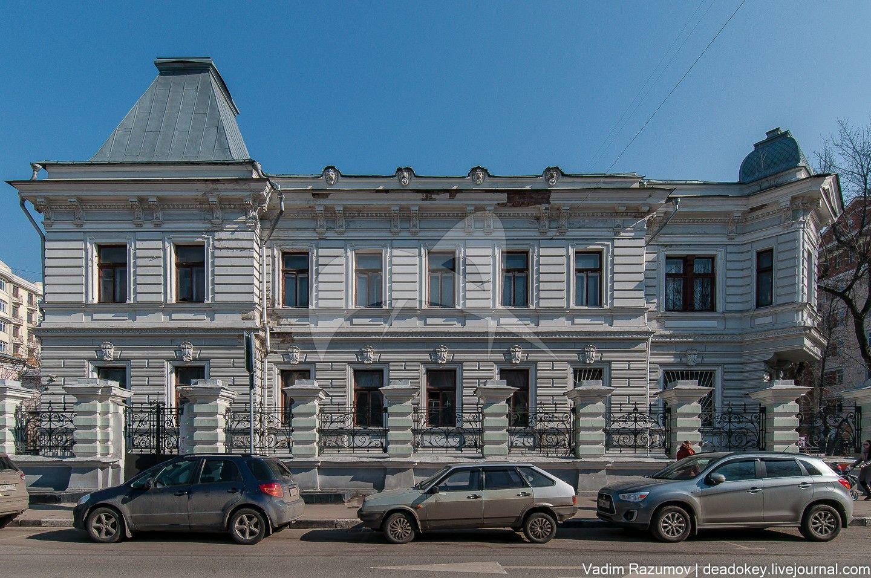 Главный дом, 1899-1900 гг., 1910 г., гражд. инж. Н.Г. Фадеев, городская усадьба М.Ф. Михайлова