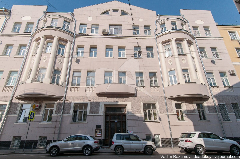 Дом, в котором в 1911-1912 гг. жил и работал выдающийся ученый-физик П.Н. Лебедев, 1910 г., арх. В.К. Олтаржевский