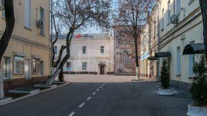 Служебный корпус, 1835-1836 гг., 1915-1916 гг., комплекс Пречистенской пожарной части, XIX в.