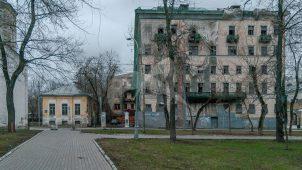 Ограда с пилонами ворот, XVIII — XIX вв., городская усадьба П. Хрящева — Шелапутиных