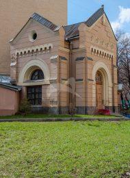Служебный корпус (часовня с покойницкой), комплекс Лютеранской кирхи, 1898 г., арх. Шехтель Ф.О.