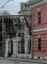 Ограда и ворота, 1763-1769 г., арх. К.И. Бланк (по ул. Б.Ордынка), церковь Екатерины