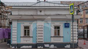 Служебный флигель, 1895 г., городская усадьба В.П. Петровской — М.П. Елисеева — Миндовских