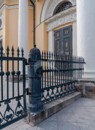 Фрагмент каменной ограды, XIX в., ансамбль церкви Всех Скорбящих Радости