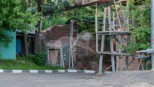 Подпорная стена терассы парка, XIX в., городская усадьба А.А. Тессина — Н.Ф. и Э.А. Островских — С.К. Марк