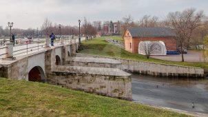 Плотина Верхнего Царицынского пруда, нач. XIX в., усадьба «Царицыно»