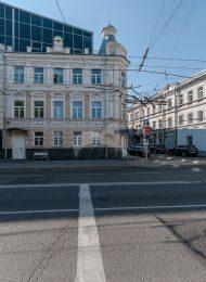 Дом, где на конспиративной квартире в первой половине марта 1906 г. Ленин Владимир Ильич выступал на совещании работников Московской партийной организации, на котором обсуждалась написанная им «Тактическая платформа к IV Объединительному съезду РСДРП»