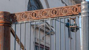 Ограда с тремя воротами, провиантский магазины, 1832-1835 гг., арх. В.П. Стасов
