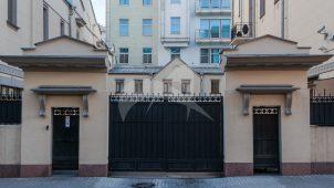 Ограда с воротами, XIX в., городская усадьба М.А. Тарасова