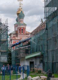 Служебная постройка у южной стены, XVII-XVIII вв., ансамбль Новодевичьего монастыря