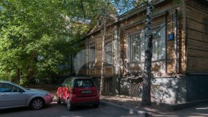 Жилой дом Э.А. фон Беренса, 1871 г., техник арх. М.А. Фидлер, перестройка в 1905 г., арх. Н.Н. Благовещенский. Здесь в 1920-х гг. жил кинорежиссер Г.Л. Рошаль