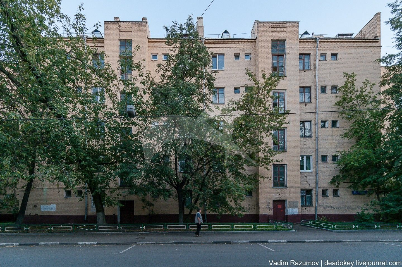 Жилой дом, 1929 г., арх. С.А. Носов, жилые дома (фрагмент планировки и застройки), 1927-1929 гг.